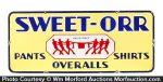 Sweet-Orr Overalls Porcelain Sign