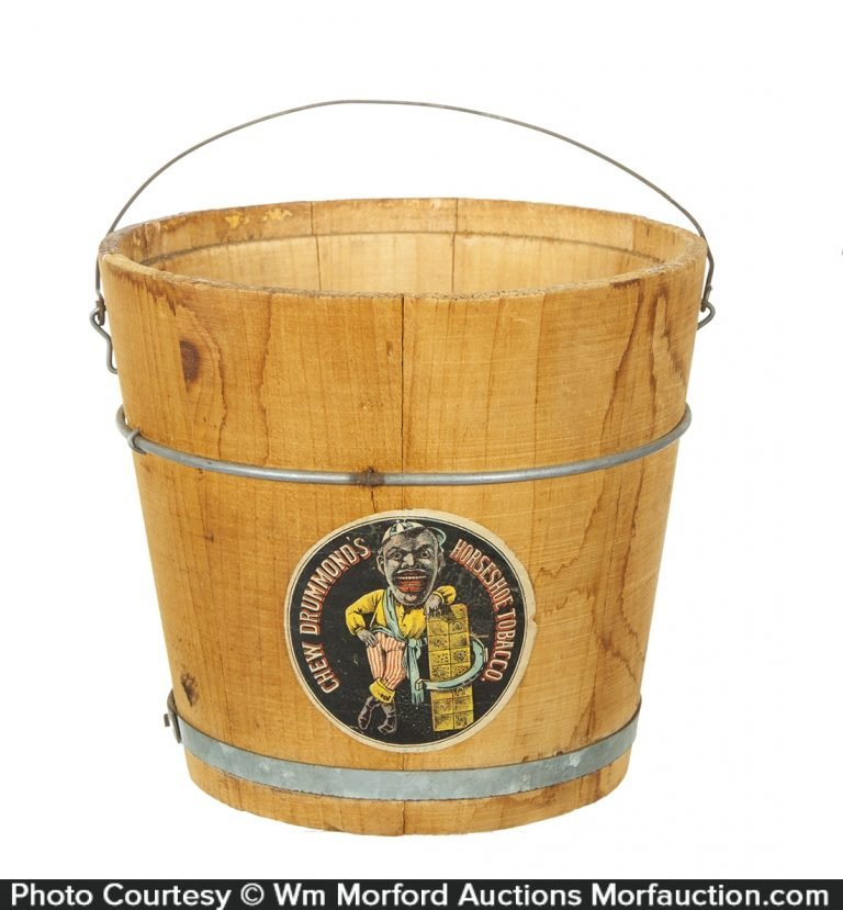 Antique advertising drummond 39 s tobacco pail antique for Drummond cleaning products
