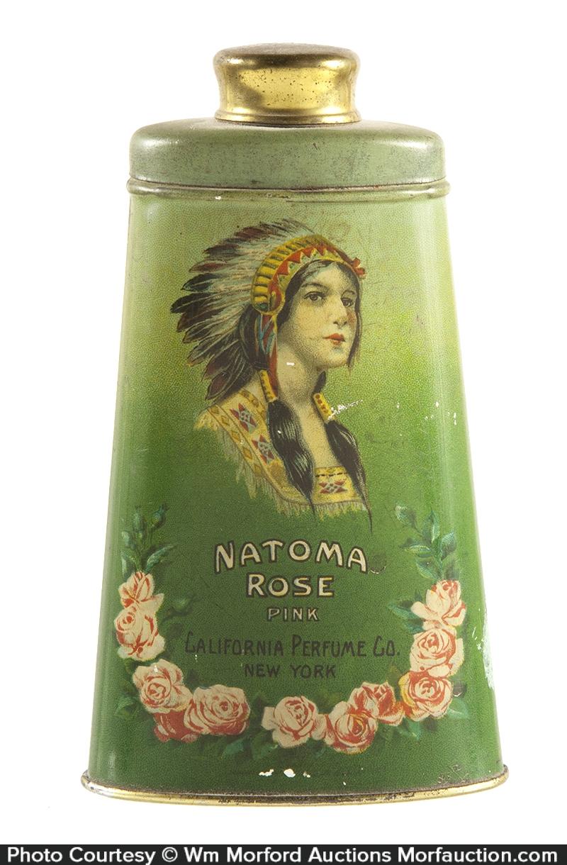 Natoma Rose Talcum Tin