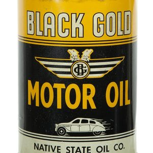 Black Gold Motor Oil Can