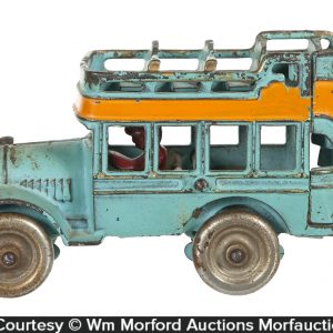 Cast Iron Tour Bus Toy