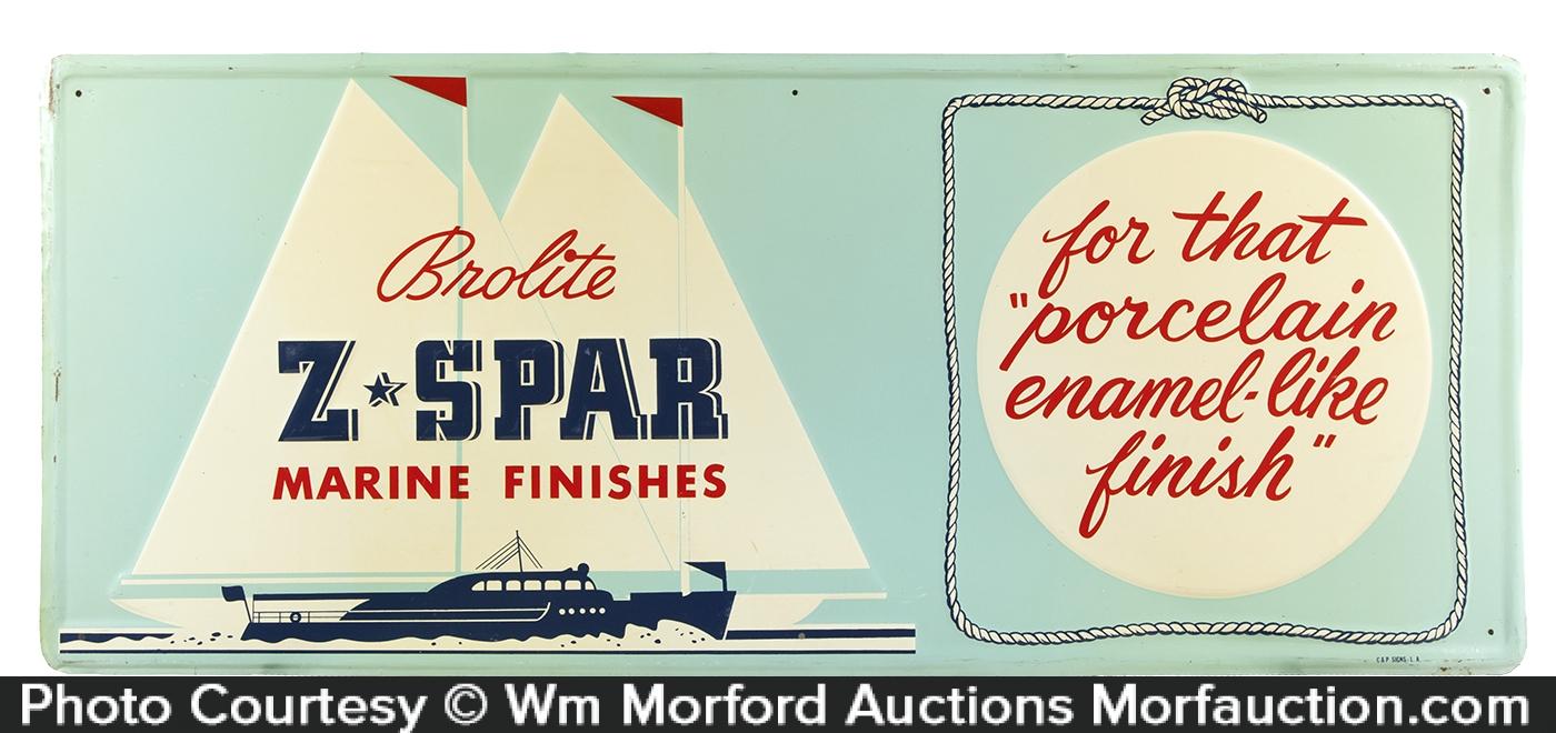 Z-Spar Marine Paint Sign