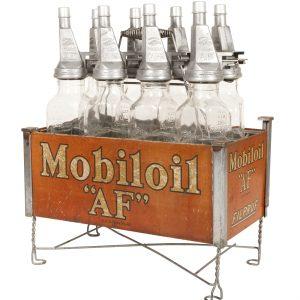Mobiloil AF Oil Bottles Rack
