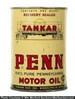 Tankar Penn Motor Oil Can