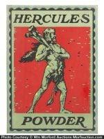 Hercules Gunpowder Sign