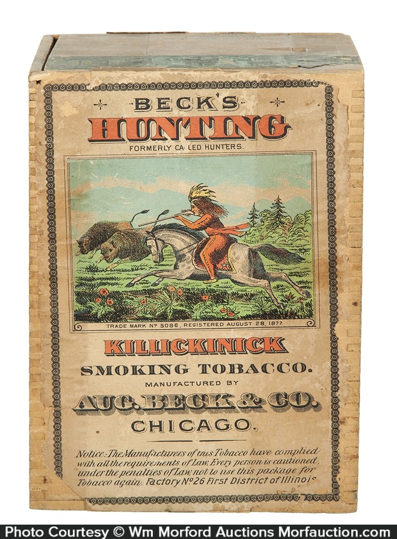 Beck's Hunting Tobacco Box