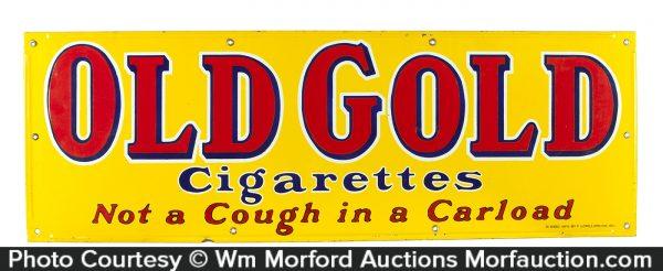 Old Gold Porcelain Cigarettes Sign