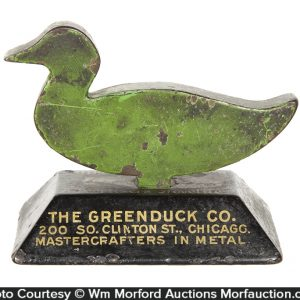 Greenduck Co. Cast Iron Duck Paperweight