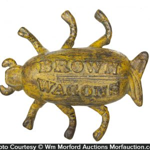 Brown Wagons Paperweight
