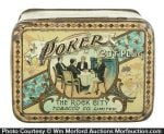 Poker Cut Plug Tobacco Tin