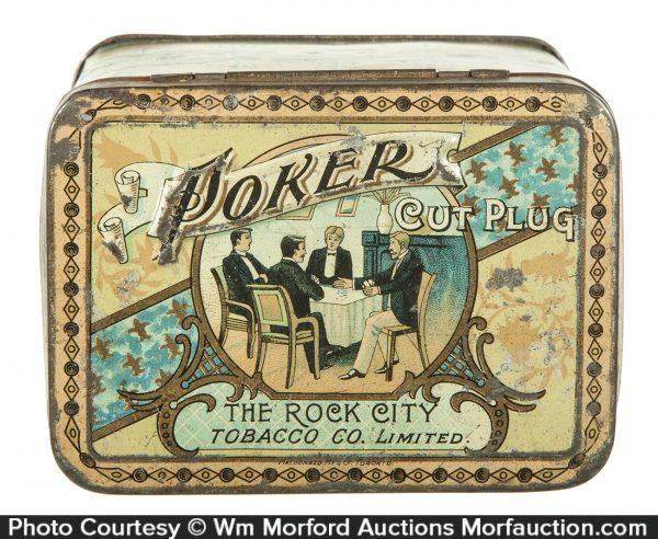 Poker Cut Plug Tobacco Tin