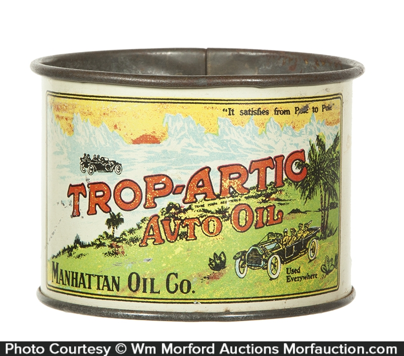 Antique Advertising Trop Artic Auto Oil Cup Antique