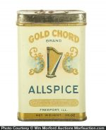 Gold Chord Spice Tin