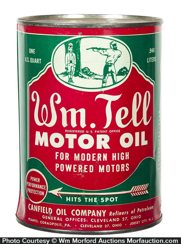 William Tell Motor Oil Can