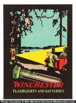 Winchester Flashlights Sign