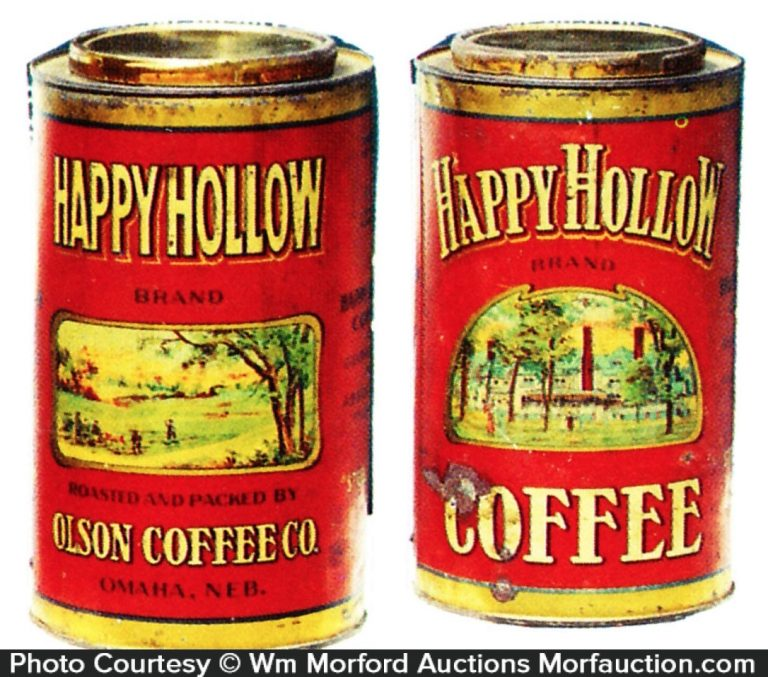 Happy Hollow Coffee Can
