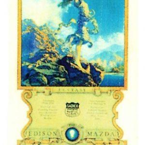 1930 Edison Mazda Ecstasy Calendar