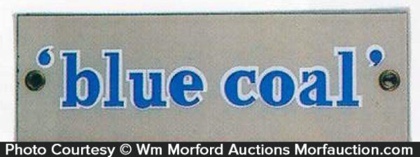 Porcelain Blue Coal Sign