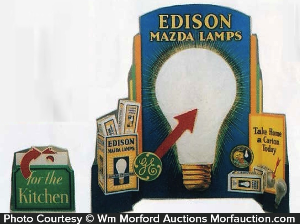 Edison Mazda Lamps Window Display