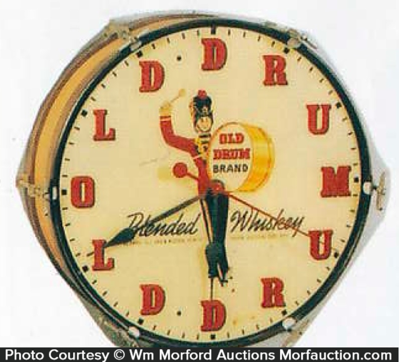 Old Drum Whiskey Clock
