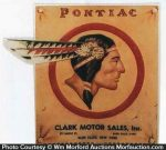 Pontiac Indian Sign