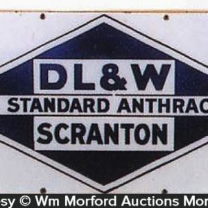 Dl & W Scranton Coal Sign
