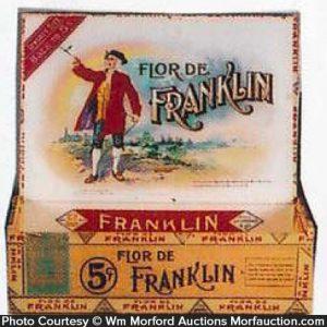 Flor De Franklin Cigar Box