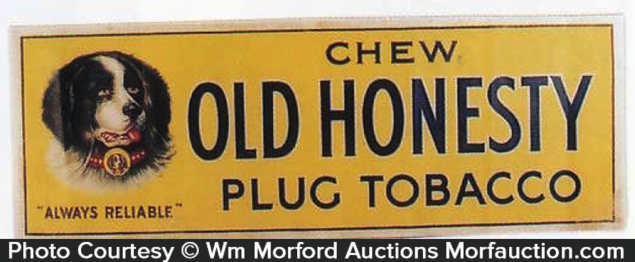 Old Honesty Tobacco Sign