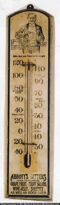 Abbott's Bitters Thermometer