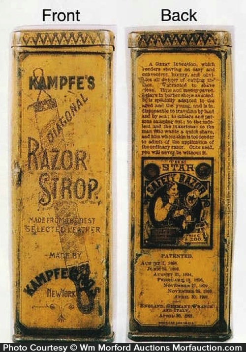 Kampfe's Star Razor Strop Tin
