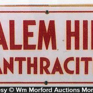 Salem Hill Anthracite Coal Sign
