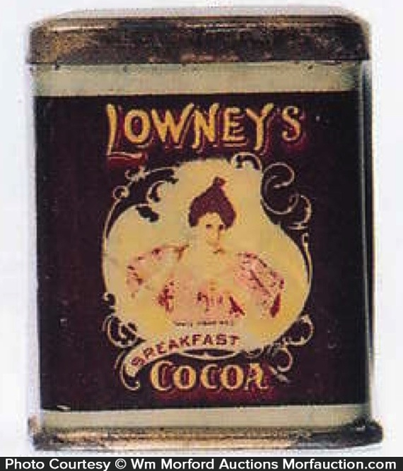 Lowney's Cocoa Tin Sample