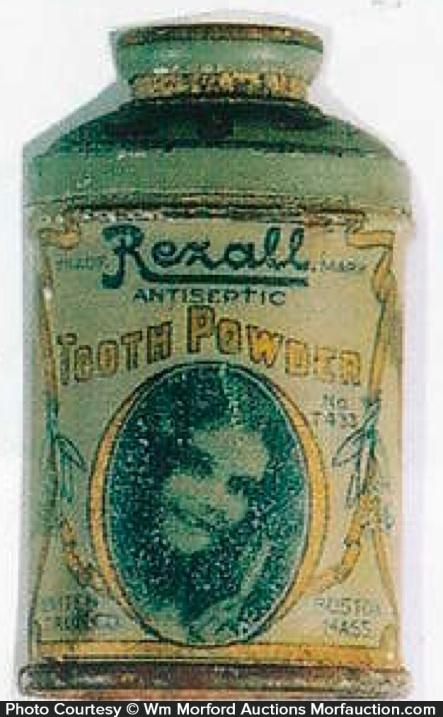 Rexall Tooth Powder Tin