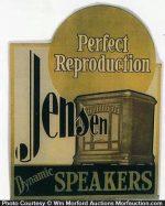 Jensen Dynamic Speakers Sign