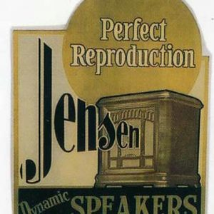 Jensen Dynamic Speakers Sign