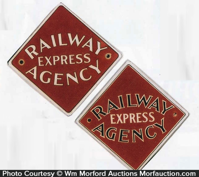 Railway Express Agency Signs