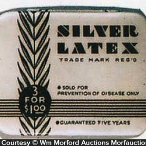 Silver Latex Condom Tin