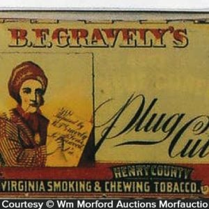 Gravely's Plug Cut Tobacco Tin