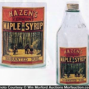 Hazen's Maple Syrup Bottle