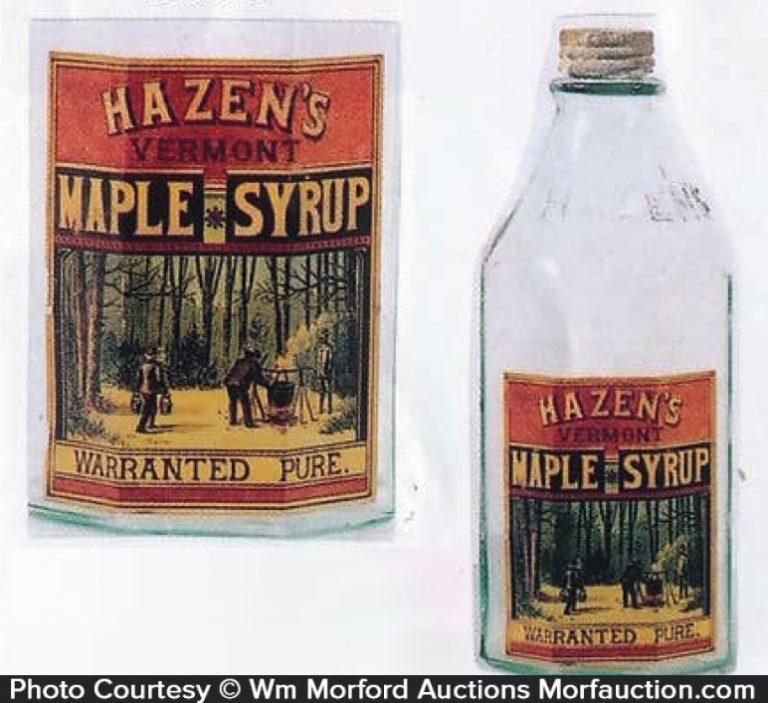 Hazen's Maple Syrup Bottle