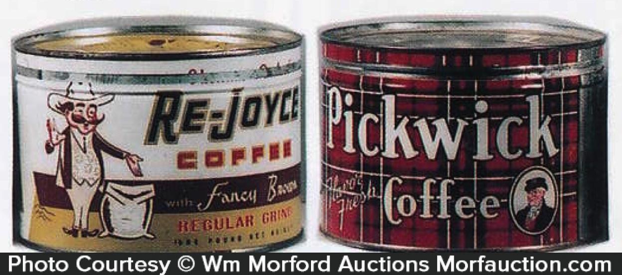 Vintage Key-Wind Coffee Cans