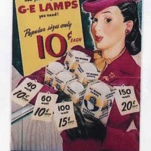 General Electric G-E Lamps Sign
