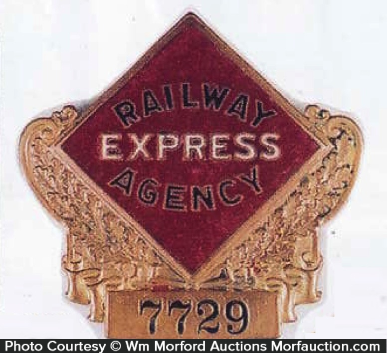 Railway Express Agency Badge