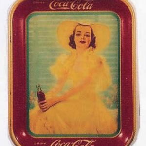 Coca-Cola Yellow Dress Tray