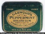 Garwood's Peppermint Gum Tin