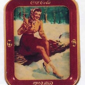 Coca-Cola Skating Girl Tray