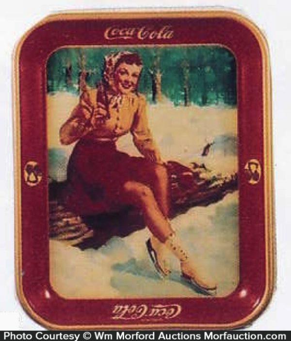 Coca-Cola Skating Girl Tray