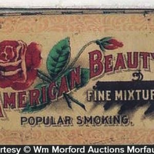 American Beauty Tobacco Tin