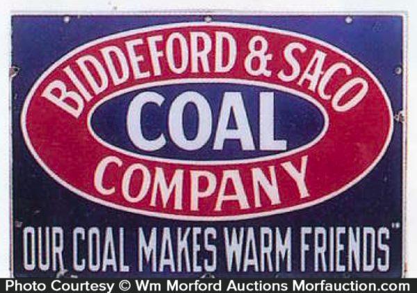 Biddeford & Saco Coal Sign