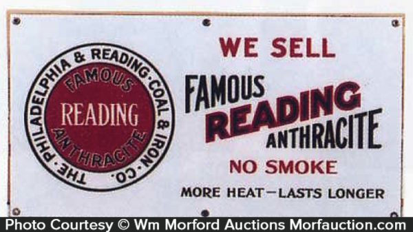 Famous Reading Coal Sign